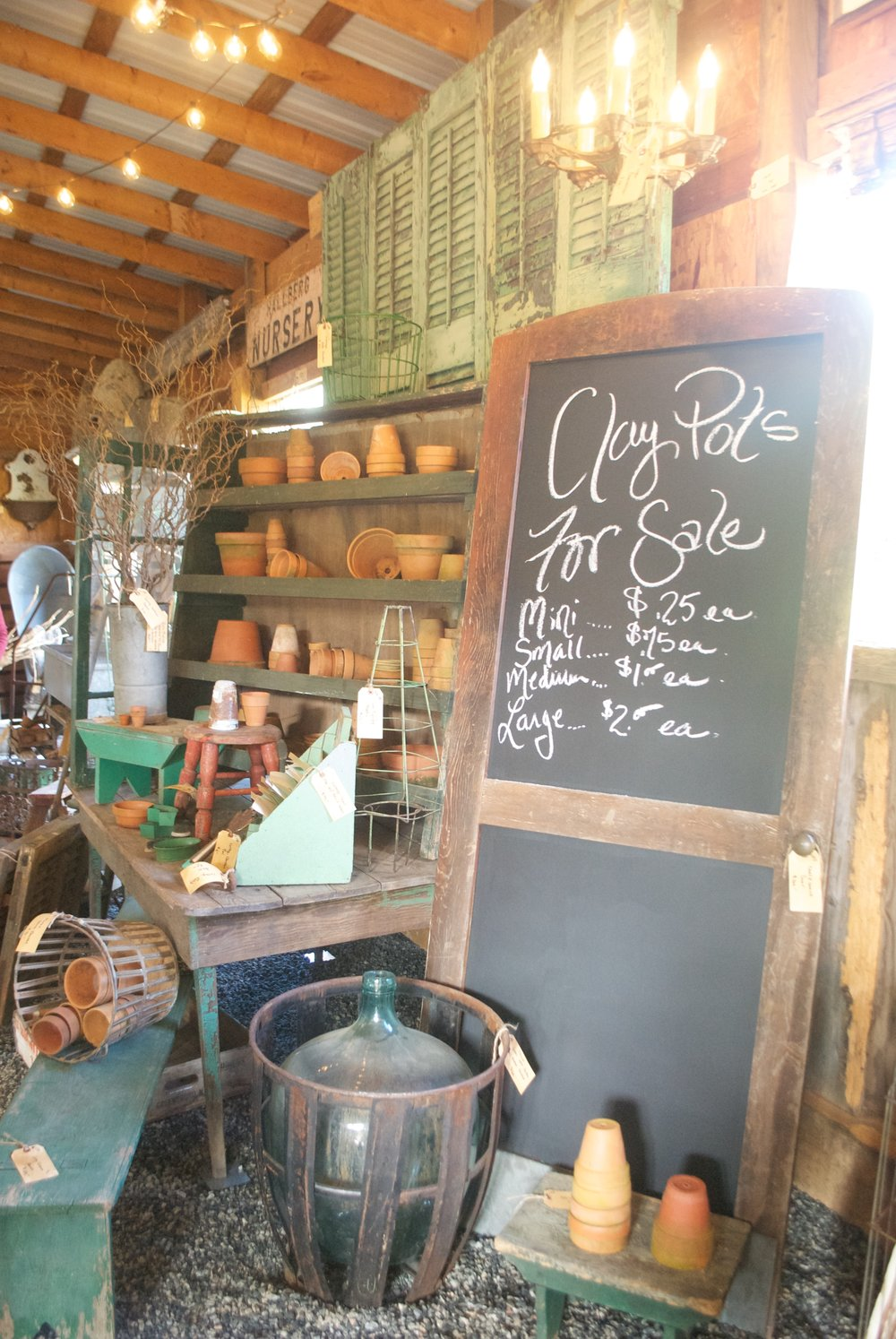 The French Farmer's Wife- Barn Sale- Clay Pots