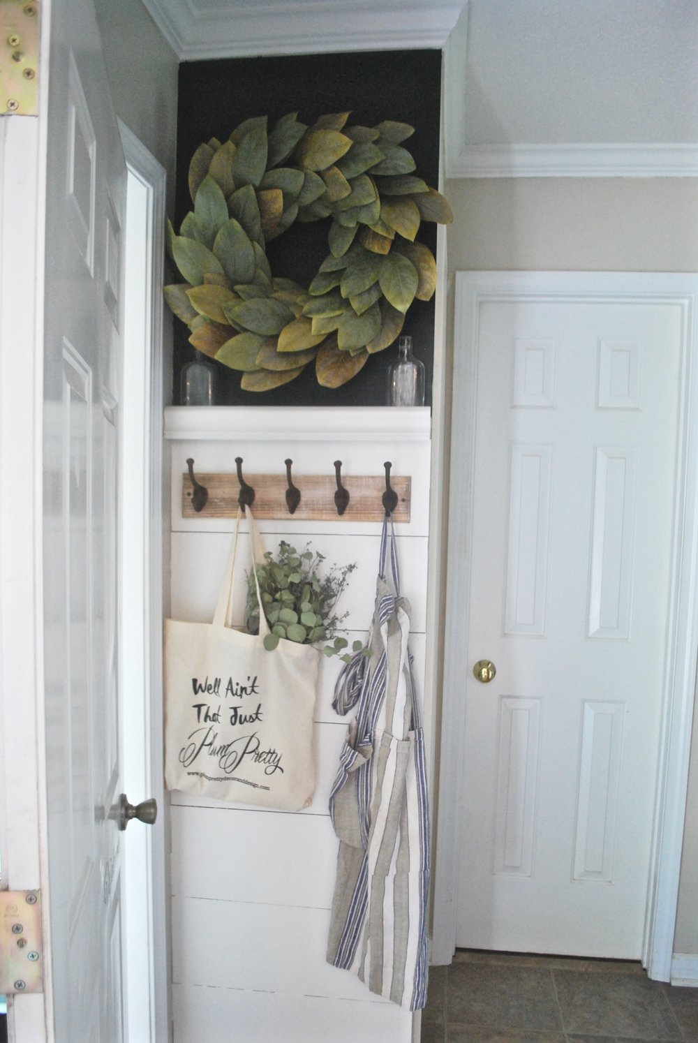 Shiplap Entry Way by Plum Pretty Decor and Design- Farmhouse Style