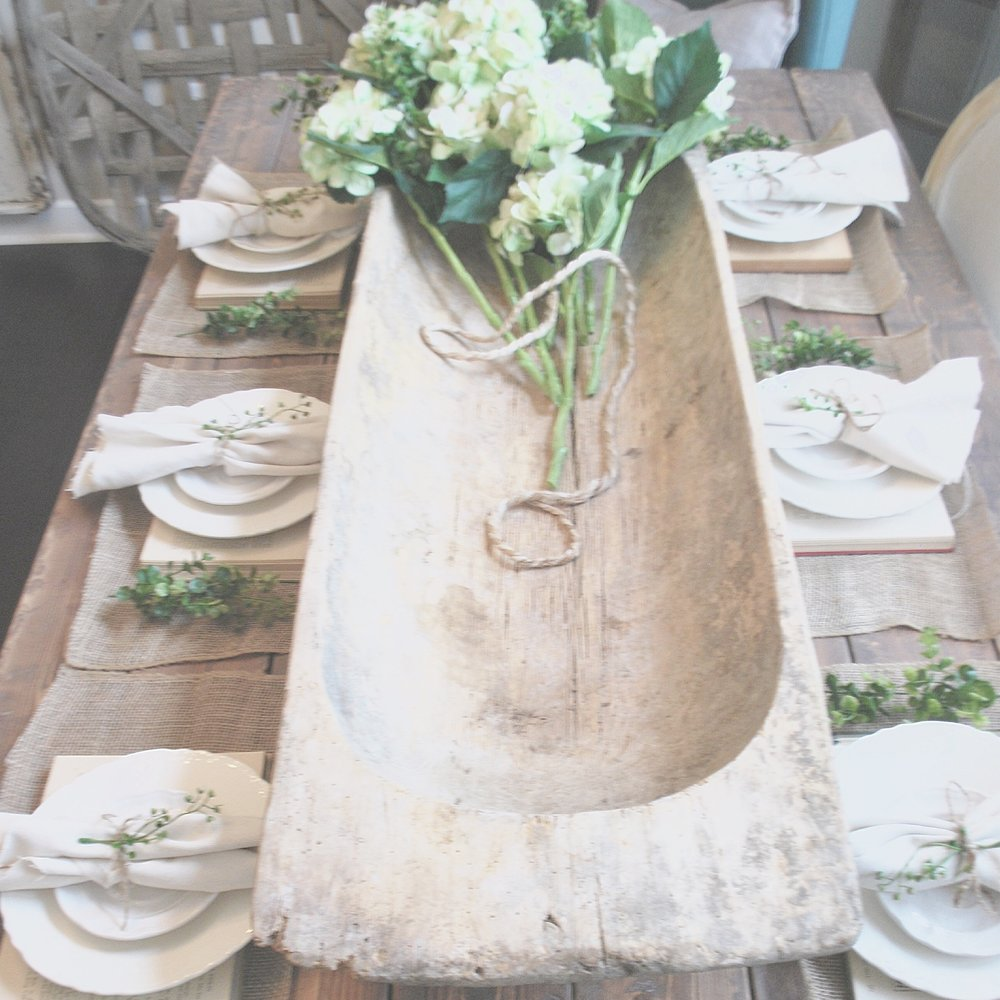 Dough Bowl Center Piece by Plum Pretty Decor and Design