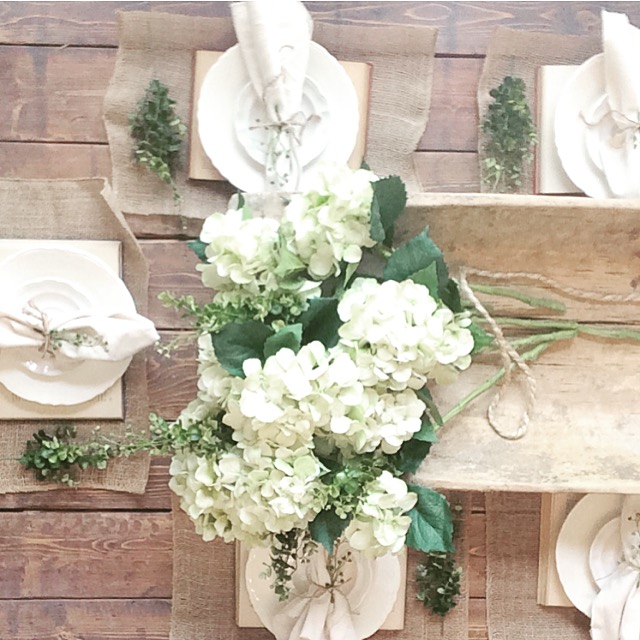 Dough Bowl Farmhouse Centerpiece by Plum Pretty Decor and Design