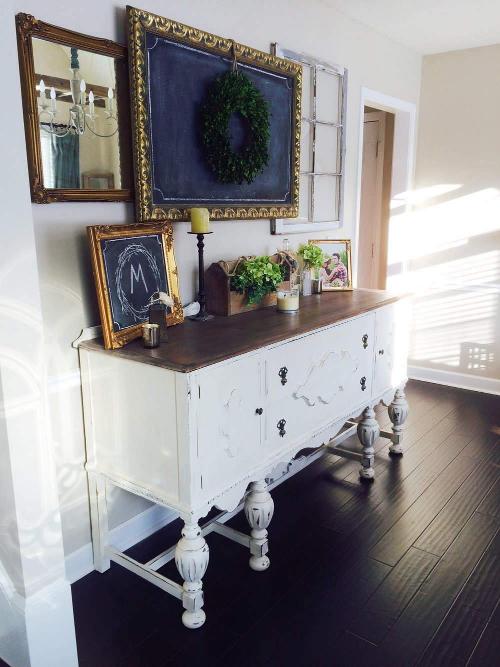 White Buffet in Dining Room