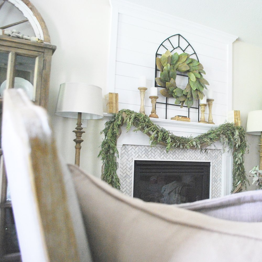 Farmhouse Living Room- By Plum Pretty Decor and Design