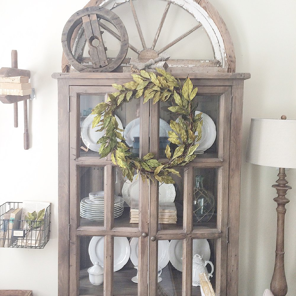 Four Hands Display Cabinet- Farmhouse Living Room by Plum Pretty Decor and Design