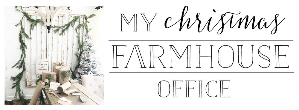 My Christmas Farmhouse Office- Plum Pretty Decor and Design's Office
