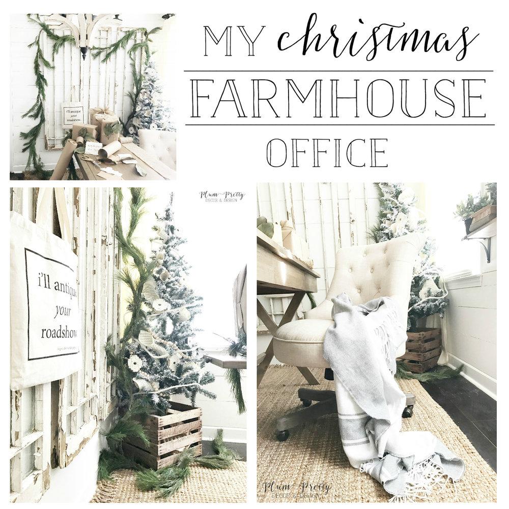Plum Pretty Decor Design CoMy Farmhouse Christmas Office