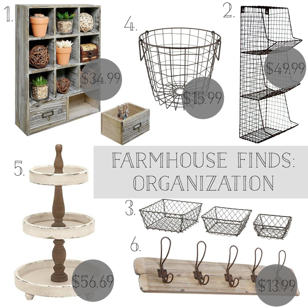 Farmhouse Decor Find for Organizing Your Life and Home- Plum Pretty Decor and Design