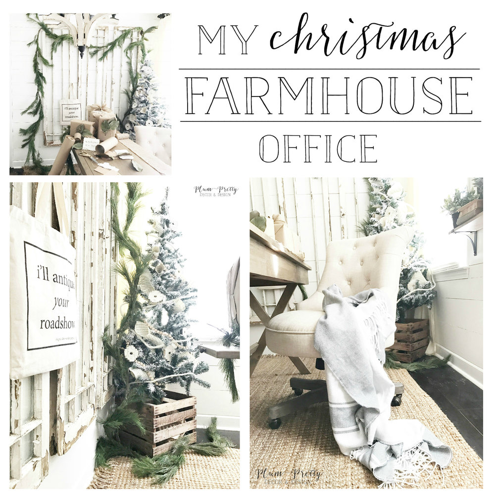 My Farmhouse Style Office- Plum Pretty Decor and Design