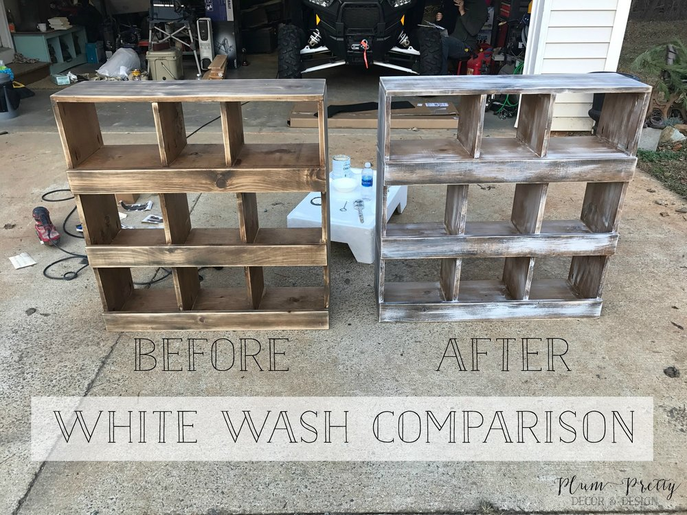DIY Farmhouse Nesting Box Tutorial- How to achieve that white wash finish- Plum Pretty Decor and Design