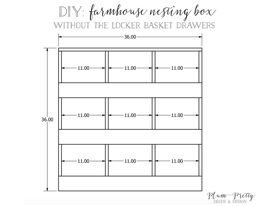 DY Farmhouse Nesting Box Tutorial: Without Drawers- Plum Pretty Decor and Design