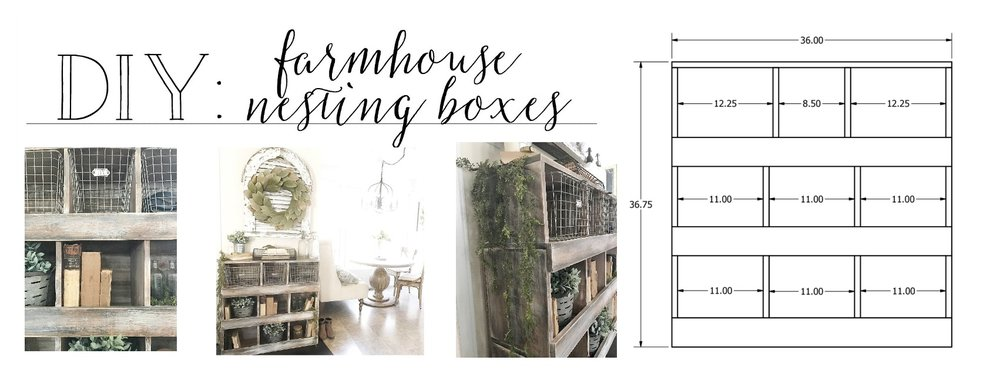 DIY Farmhouse Nesting Box Tutorial- By Plum Pretty Decor and Design