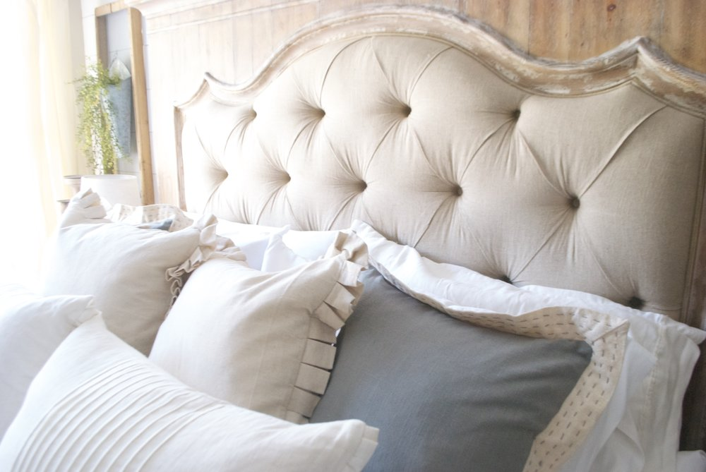 French Country Farmhouse Style Bed by Hooker Furniture- Plum Pretty Decor and Design