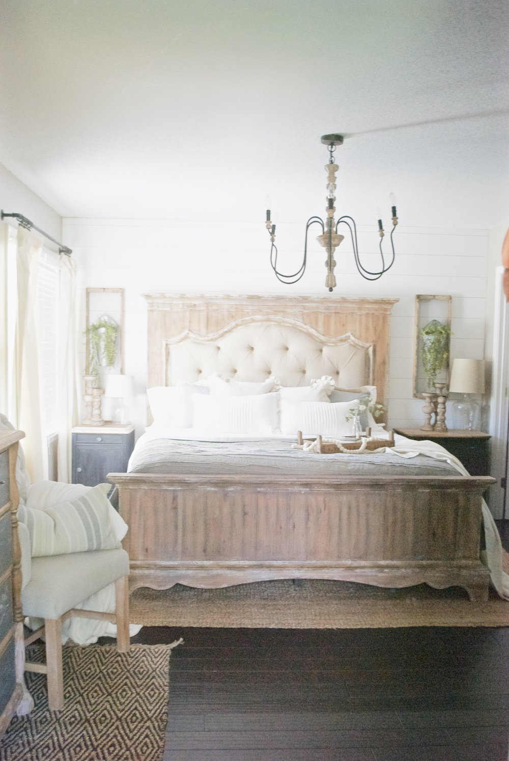 Farmhouse Style Bed- Plum Pretty Decor and Design