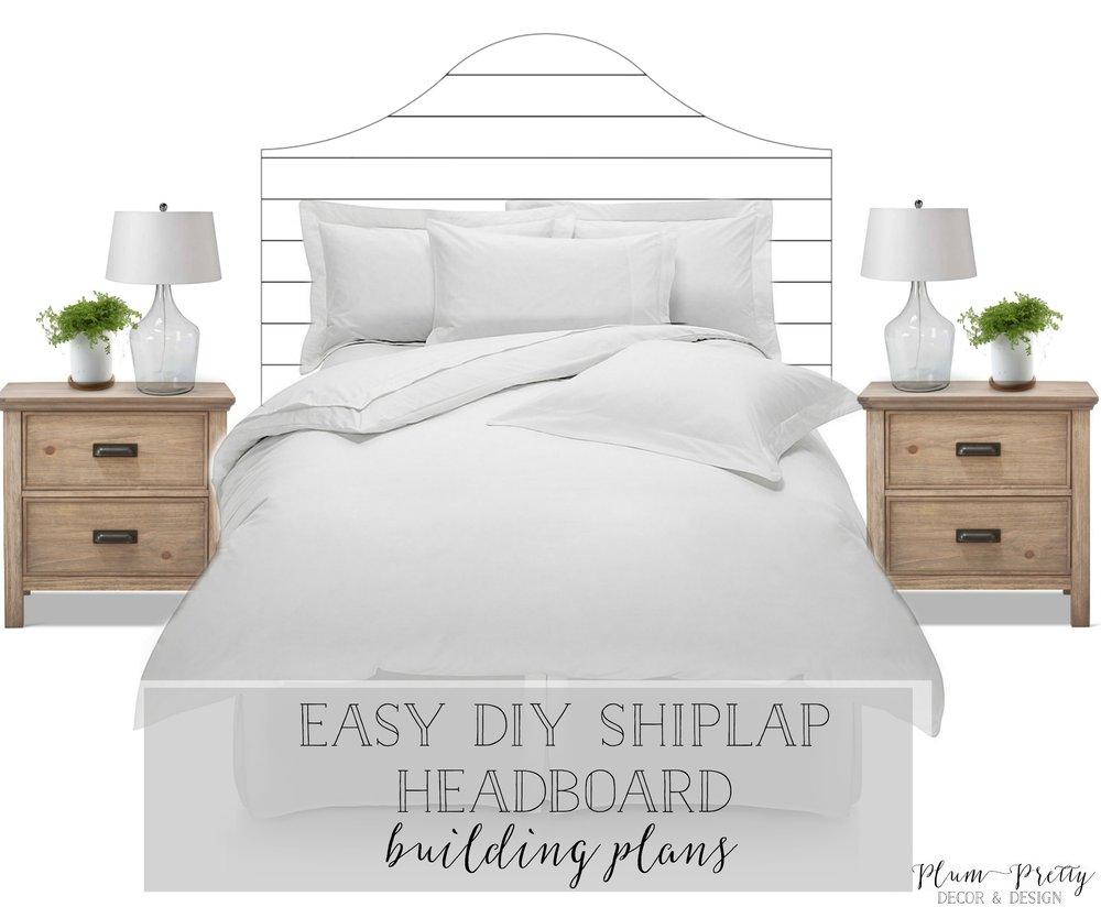 Plum Pretty Decor Amp Design Co Easy Diy Shiplap Headboard