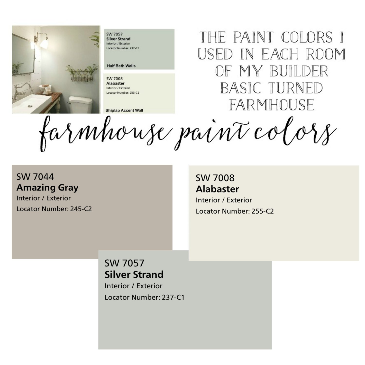 Plum Pretty Decor Design Co Farmhouse Paint Colors The Paint Colors I Used In Each Room Of My House,Controlling Variables Definition