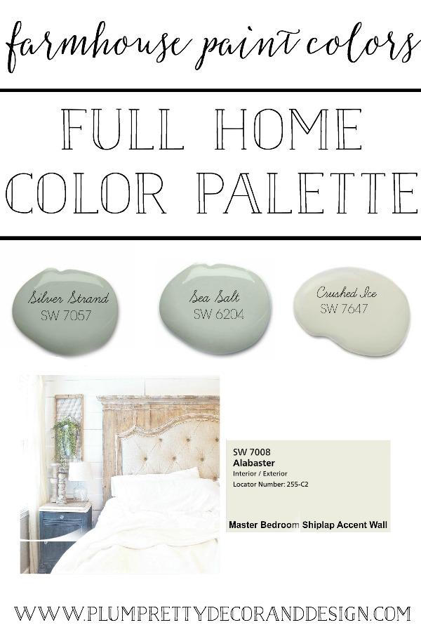 Farmhouse Paint Colors  A Full Home Color Palette Tour. See More Farmhouse  Paint Colors