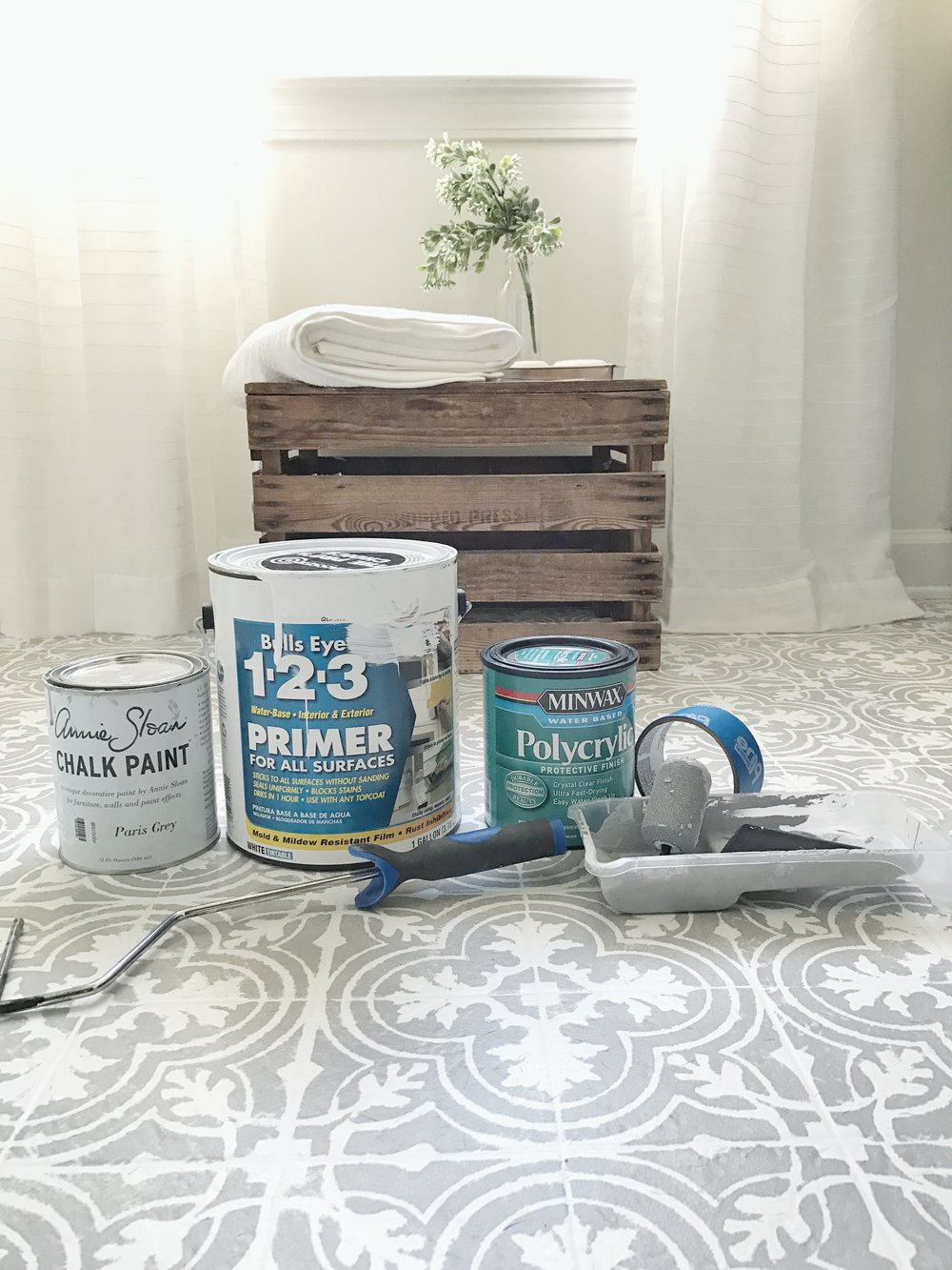 Plum Pretty Decor Amp Design Co How To Paint Your Linoleum