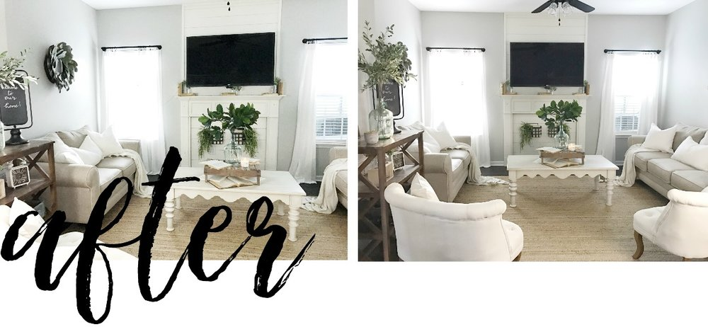 Plum Pretty Decor and Design Client Project- Farmhouse Style Living Room- The Simple Abode