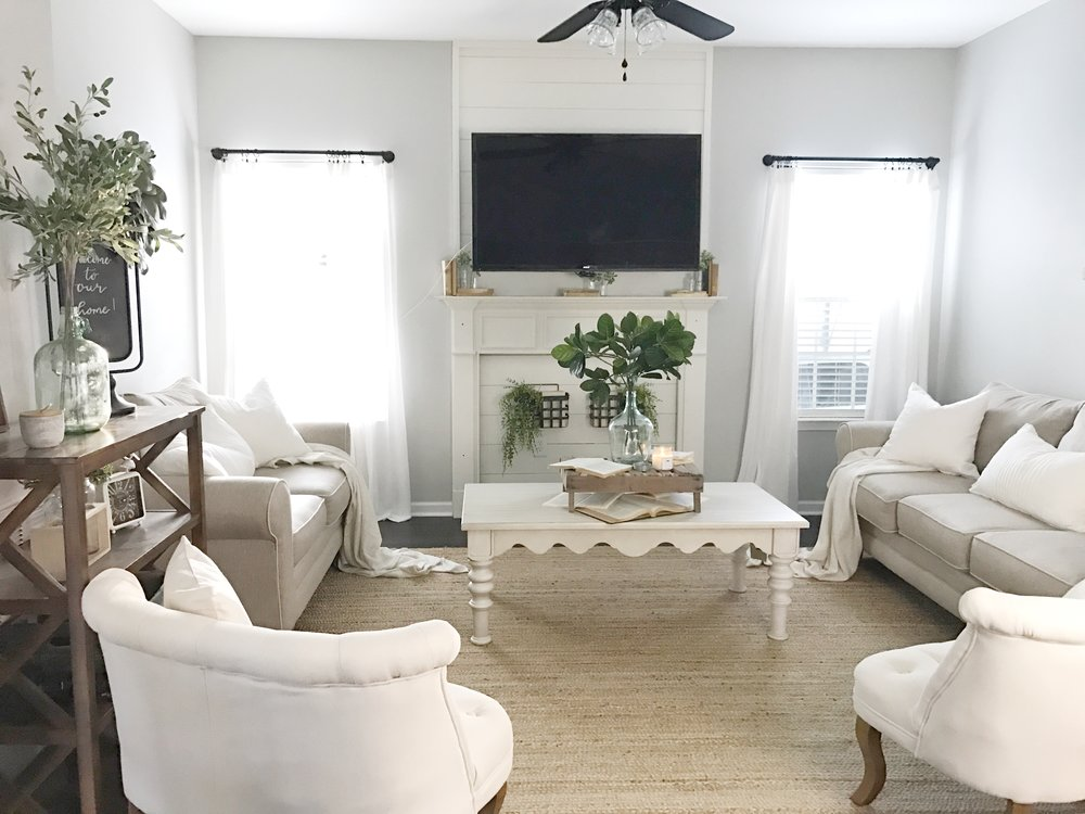 Farmhouse Style Living Room by Plum Pretty Decor and Design- Interior Design Client Project