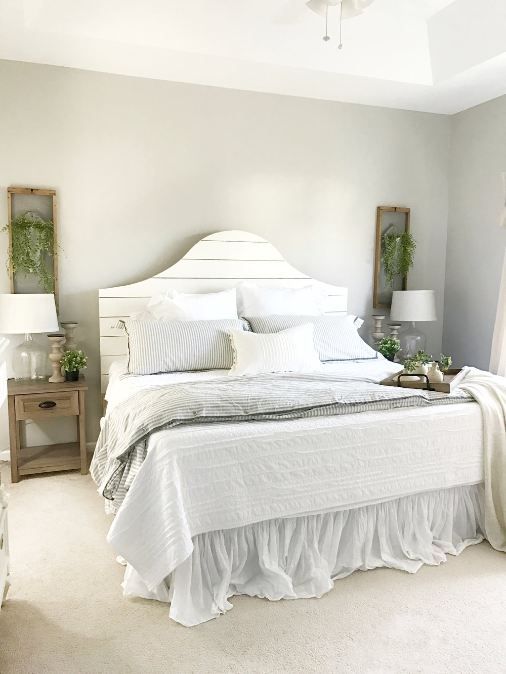 The Simple Abodes Farmhouse Style Master Bedroom Interior Design By Plum Pretty Decor And