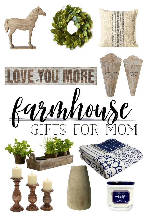 Friday Farmhouse Finds: Mother's Day Gift Ideas- Farmhouse Gift Guide for Mom by Plum Pretty Decor and Design