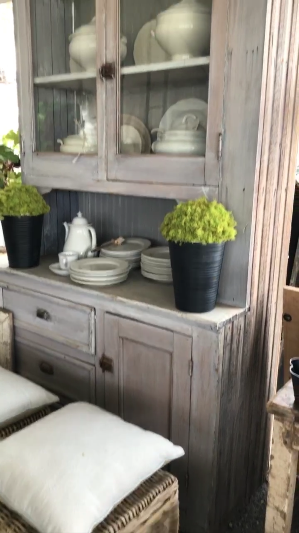 Why I bought a cabinet that won't fit in my house- Farmhouse Cabinet- Plum Pretty Decor and Design