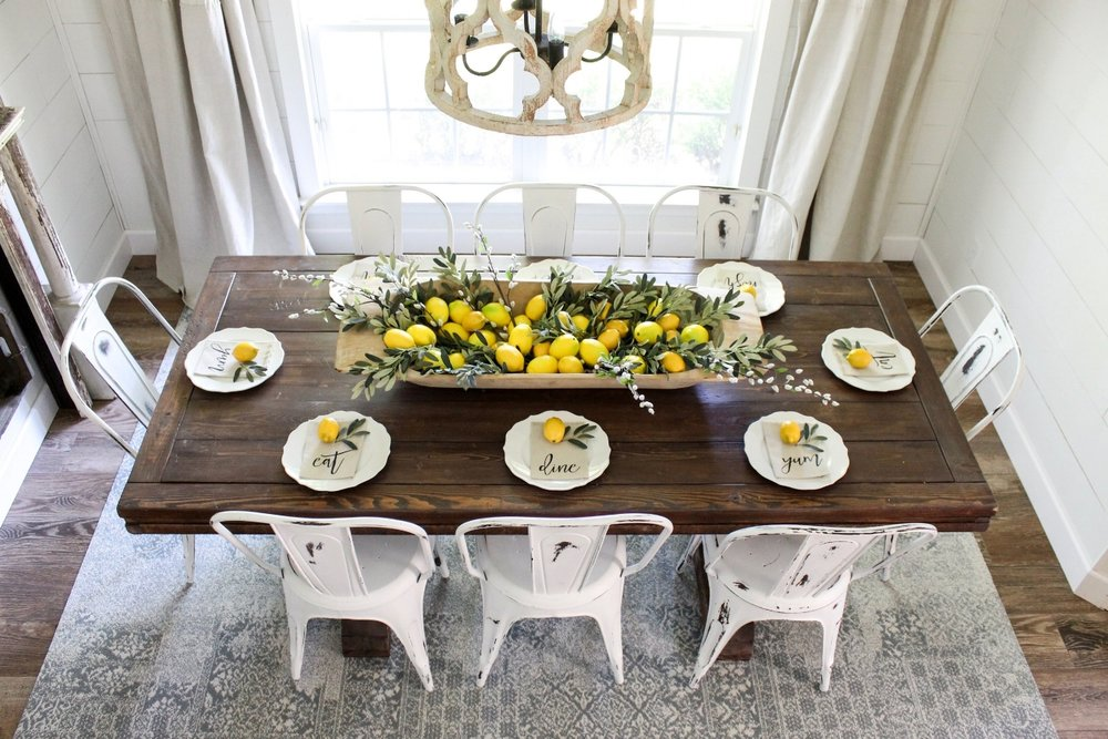 "Erin of ""Cotton Stem"" has her dining room all lemoned up!! --{CLICK HERE} to see the whole space on her blog."