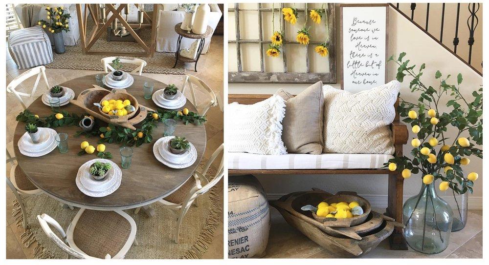 Liz of Desert Decor has the love for lemons too y'all! Check out her Instagram { HERE}  for more lemon inspo!