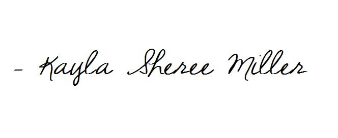 Signature- Kayla Sheree Miller of Plum Pretty Decor and Design