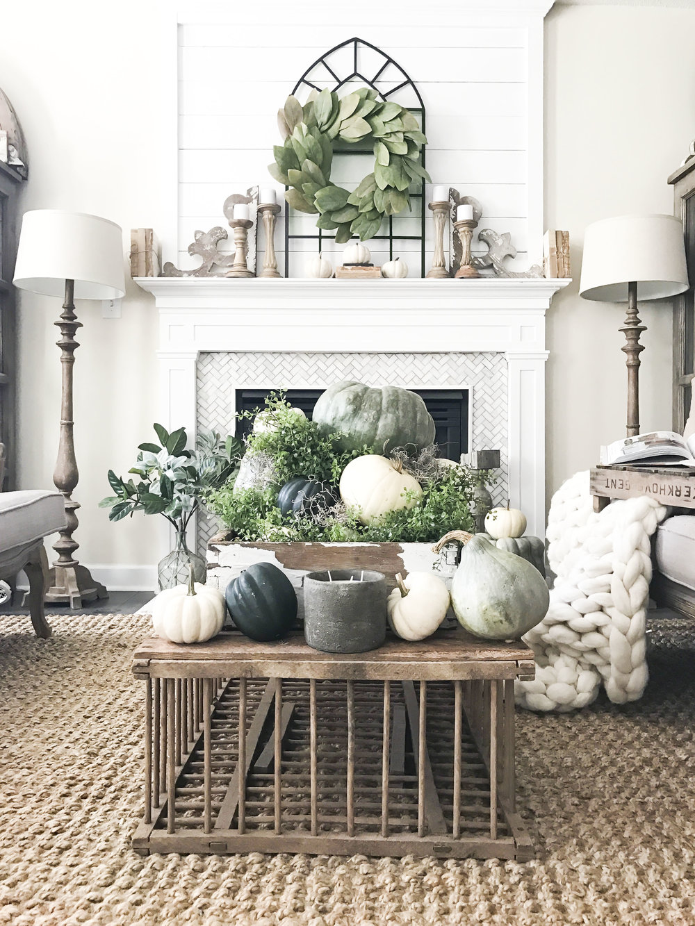 Fall Home Tour inside Plum Pretty Decor and Designs Fall Home- Living Room with a Neutral Fall Design