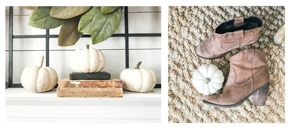 Fall Home Tour inside Plum Pretty Decor and Designs Fall Home- Pumpkin Decor and Fall Boots