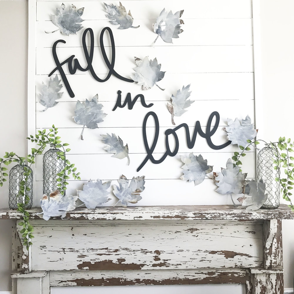 "Fall Home Tour inside Plum Pretty Decor and Designs Fall Home- Fall Mantel Decor ""Fall in Love"""
