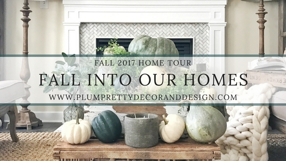 Fall into our Homes- Fall Home Tour inside Plum Pretty Decor and Designs Fall Home