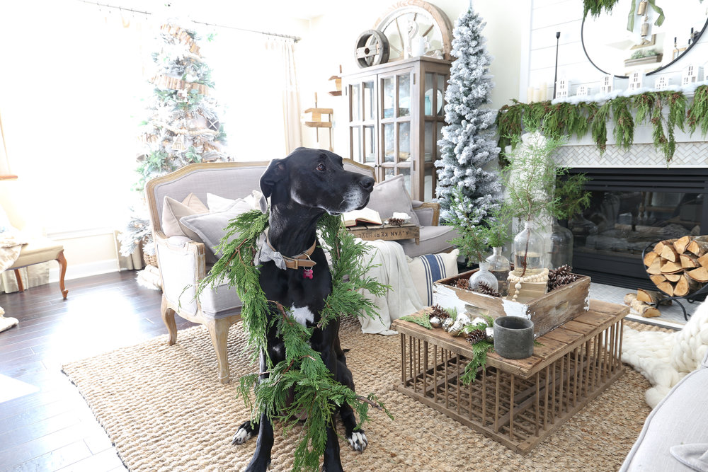 Christmas 2017 Home Tour: Deck The Blogs-Living Room Christmas Decor with Bella- Plum Pretty Decor & Design's Christmas Home Tour