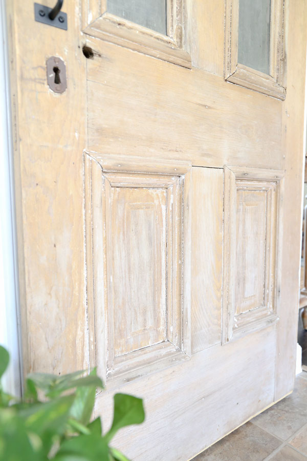 Antique Pantry Door on Sliding Barn Door Hardware- By Plum Pretty Decor & Design Co.