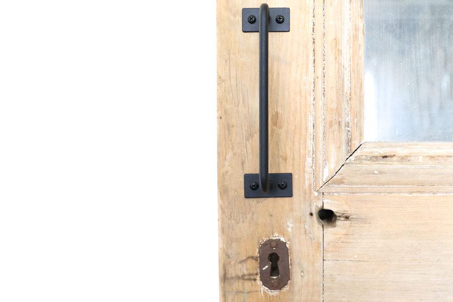 Modern Farmhouse Door Pull on Antique Pantry Door- By Plum Pretty Decor & Design