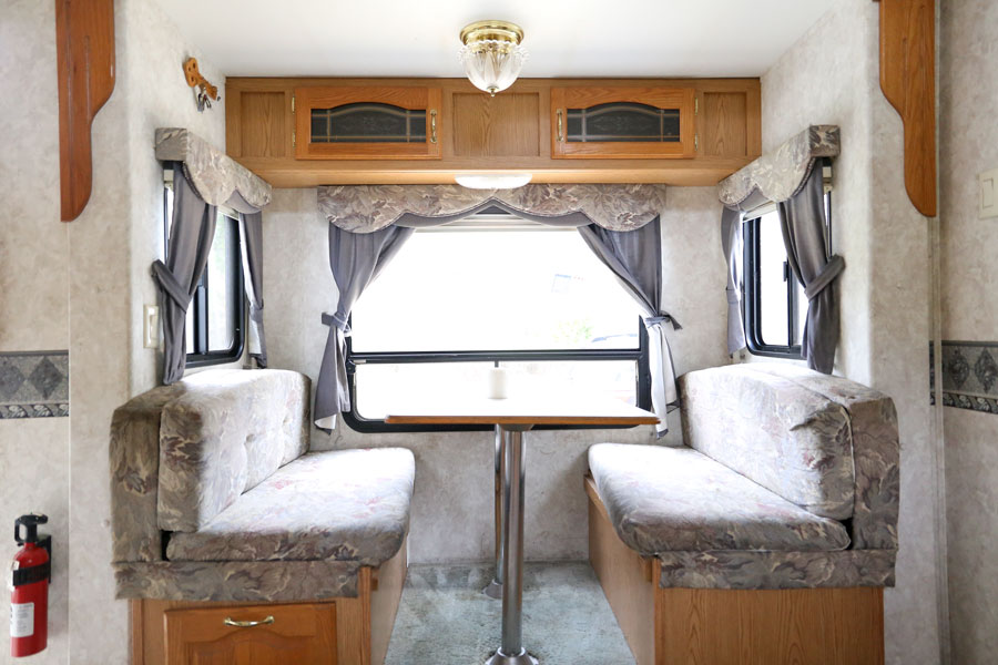 We bought a camper! Check out the full tour before we start demo. We are turning it into a modern farmhouse on wheels. By Plum Pretty Decor and Design.