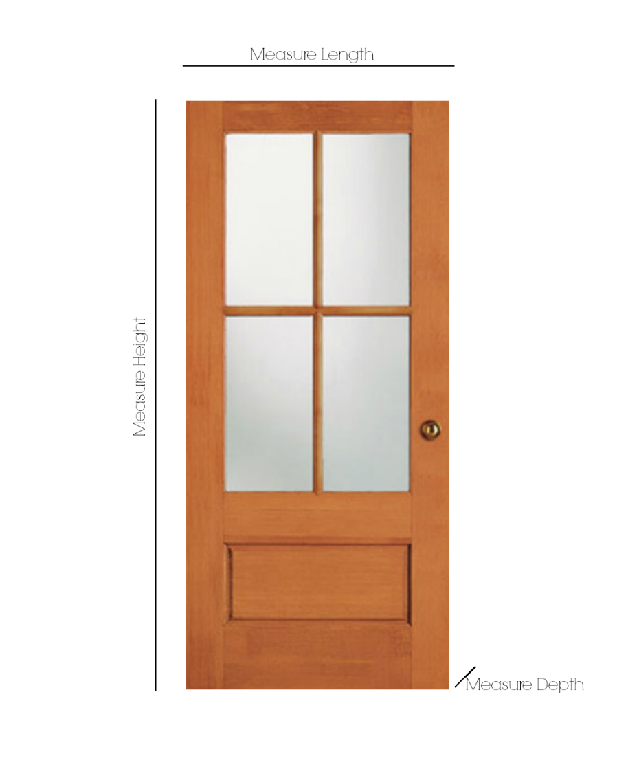 How to measure your door for ordering your new exterior door- How to install a new front door.