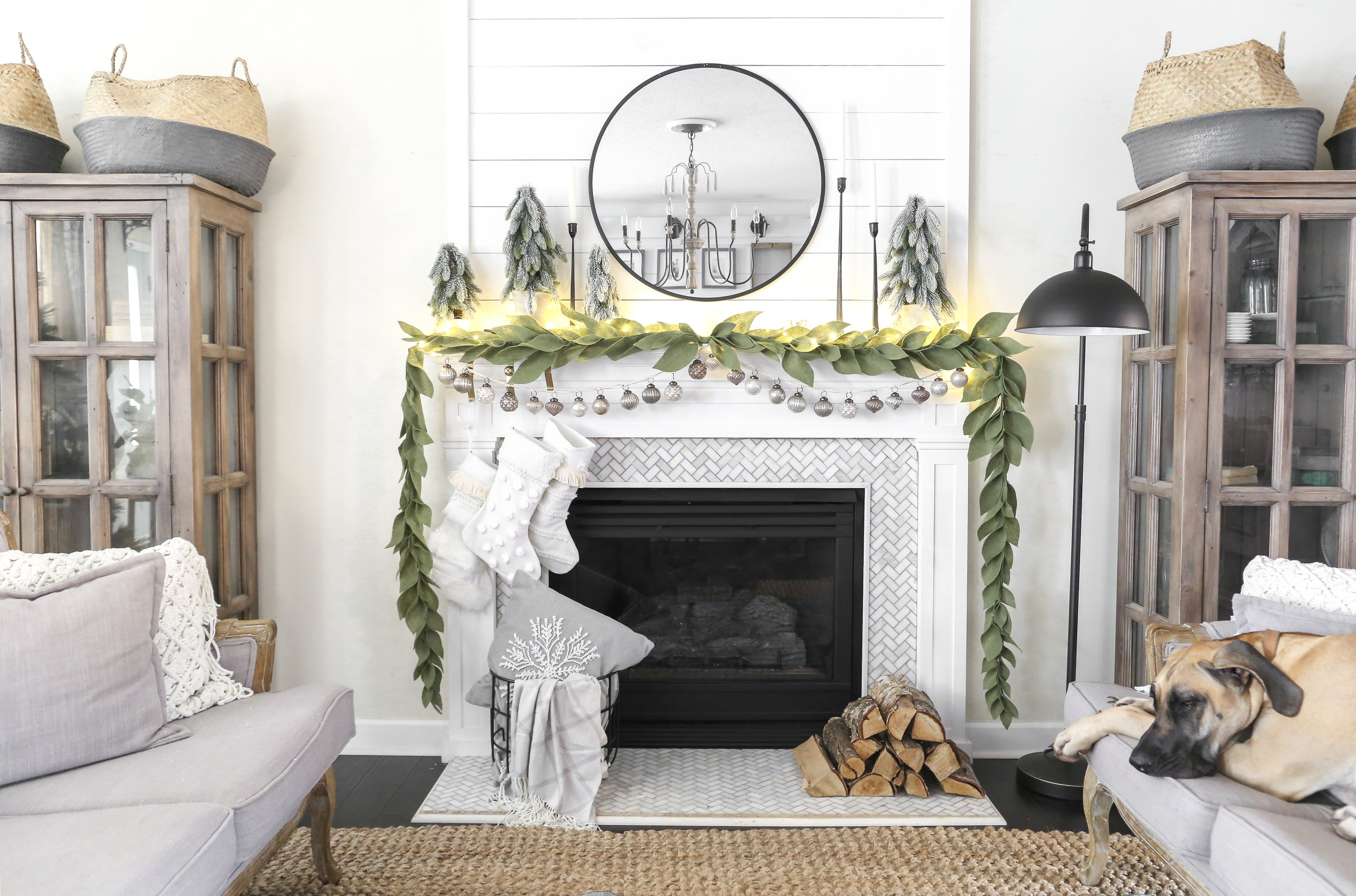 Plum Pretty Decor Design Co Simple Neutral Christmas Mantel With Joann