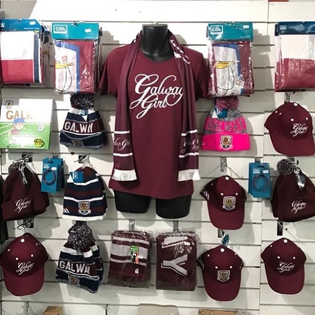 🇱🇻🇱🇻 HON GALWAY 🇱🇻 🇱🇻 . Our full range of Galway Girl Clothing and accessories are on sale now in OMG @ Zhivago on Shop Street alongside a HUGE selection of Galway Flags, Hats, Bunting & more!! Show your colours 😀  Galway Girl Clothing also available online to ship worldwide @ www.galwaygirl.com .  #galway #gaa #galwaygaa #hurling #galwaygirl #galwaygirls
