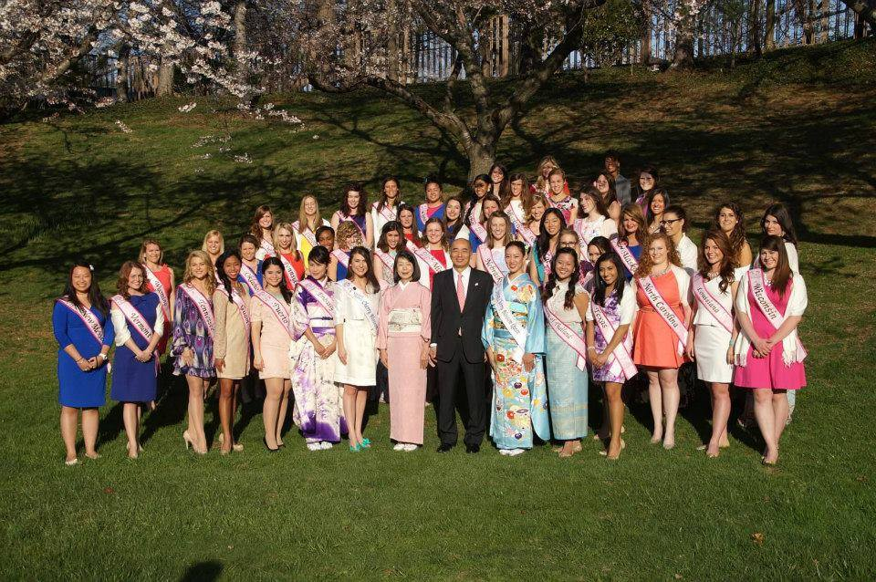 Japanese Ambassador with Cherry Blossom Delegates 2014