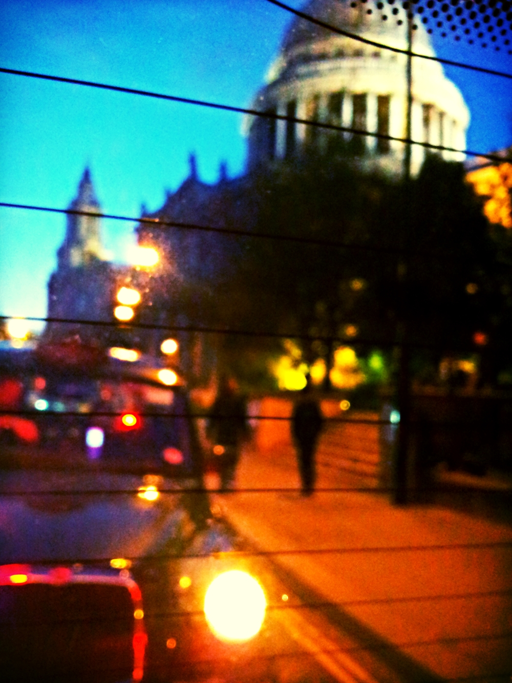 St Paul's at dusk in August