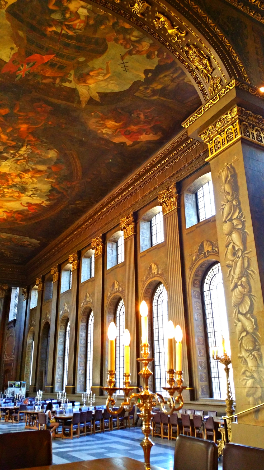 The breathtaking Painted Hall of the Royal Naval College