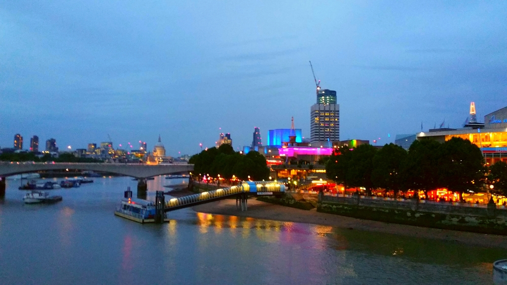 View of the Southbank at dusk