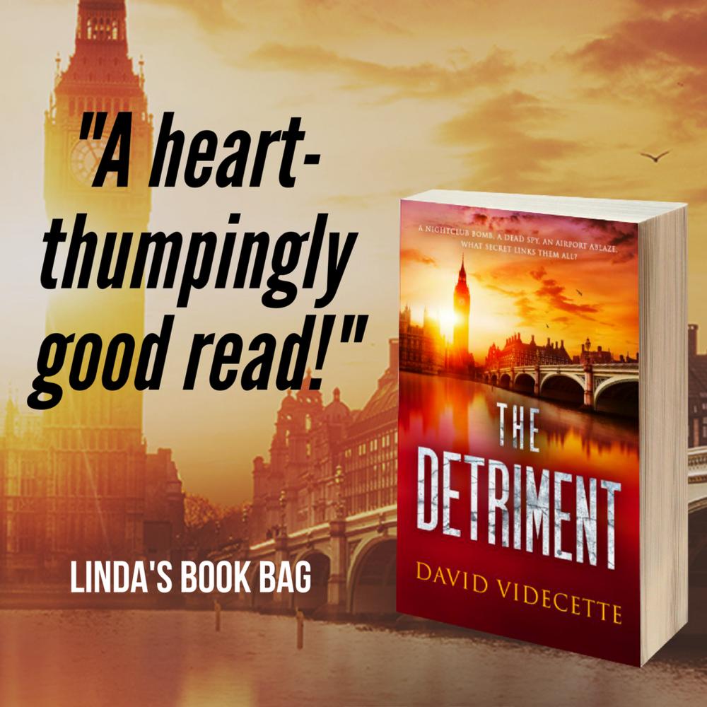 Linda book bag The Detriment quote.png