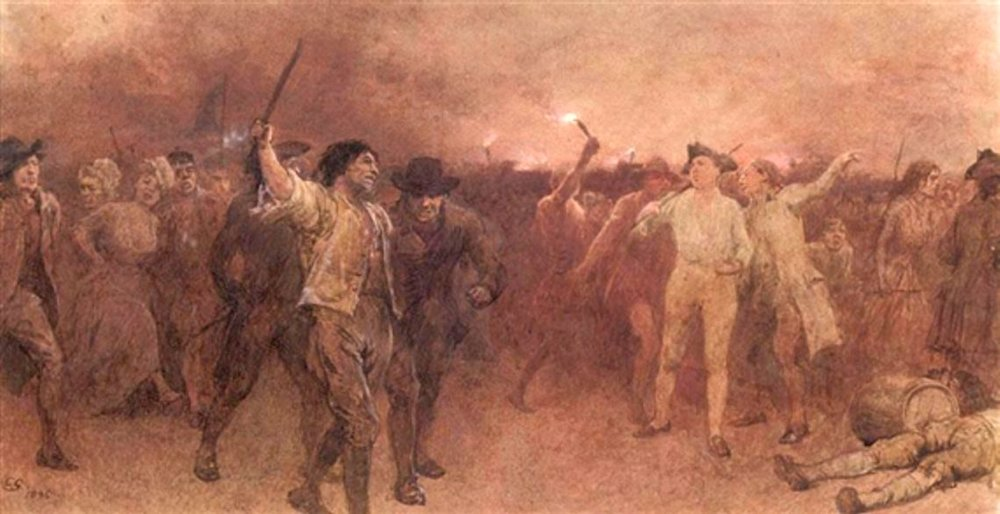 The Gordon Riots by Charles Green - www.mutualart.com, Public Domain, https://commons.wikimedia.org/wiki/File:Charles_Green13.jpg