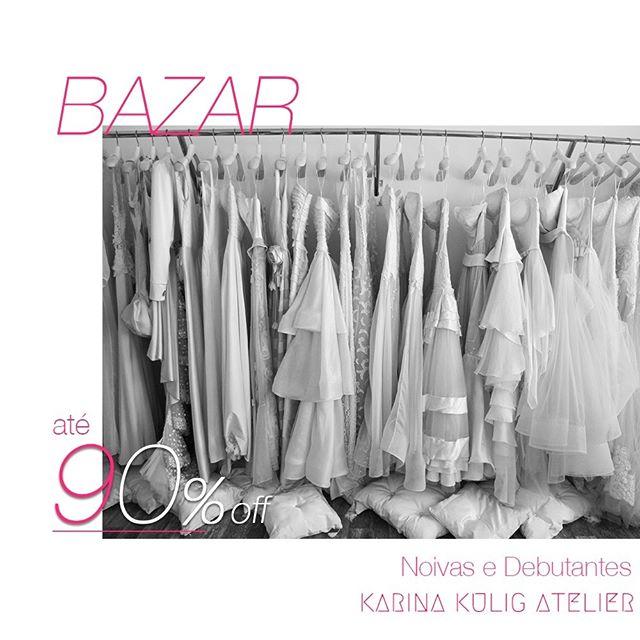 BAZAR NOIVAS E DEBUTANTES IMPERDÍVEL: Vestidos, sapatos e acessórios com preço ABAIXO de custo!!!😱  Do dia 26 junho até 01 de julho. Das 9h30 - 19h