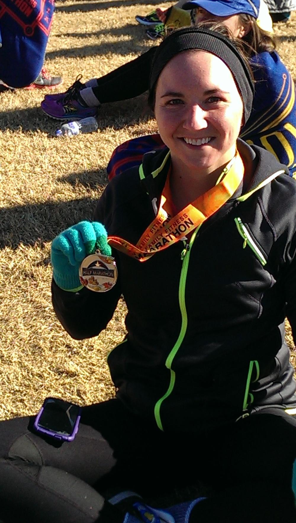 Erica Crist with a Half Marathon PR in Richmond, Virginia