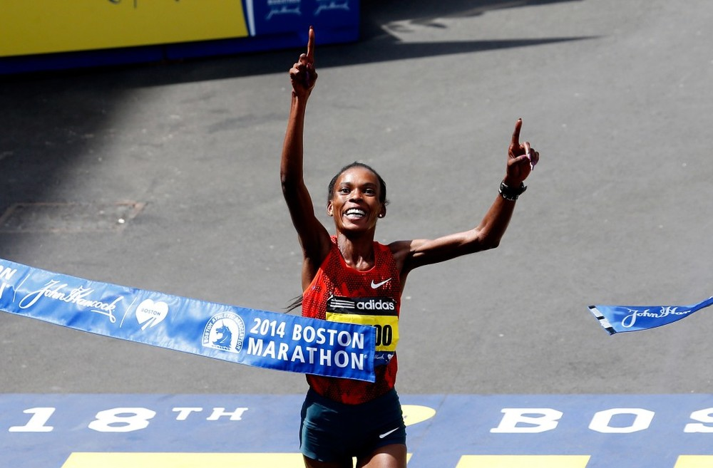 Jeptoo Finish at 2014 Boston