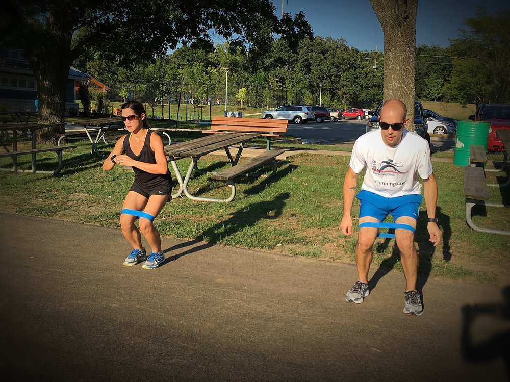 JJ and Tyler work their run buns at RRKC Speed and Strength