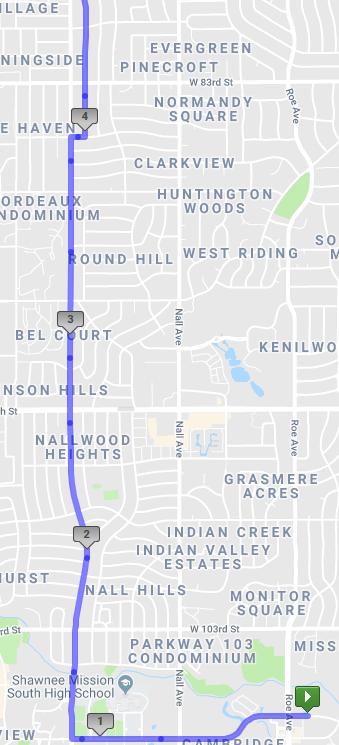 An 18 miler from OP to Mission Hills